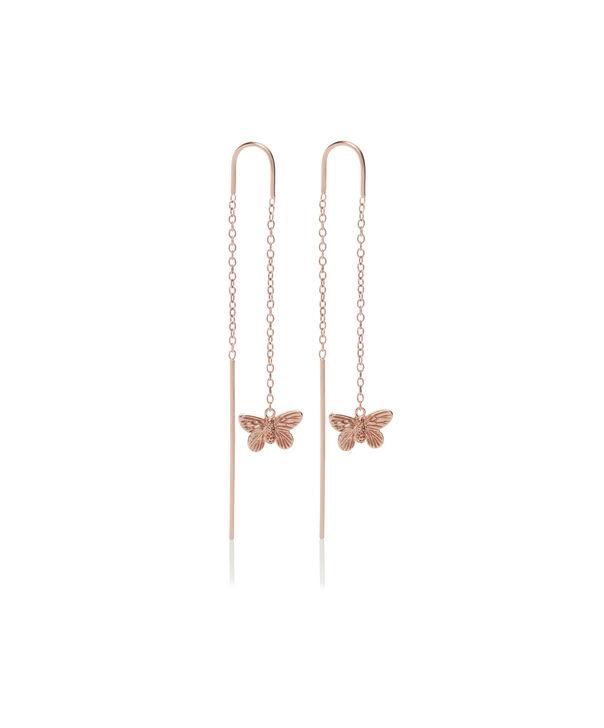 OLIVIA BURTON LONDON 3D Butterfly Threader Earrings Rose GoldOBJMBE09 – Earrings in Rose Gold - Front view