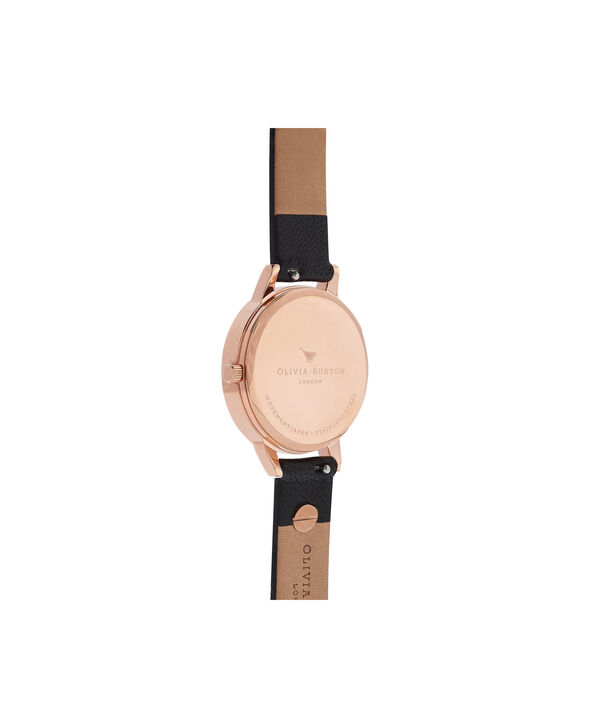 OLIVIA BURTON LONDON  Vintage Bow Black & Rose Gold Watch OB16VB07 – Midi Dial in Black and Rose Gold - Back view
