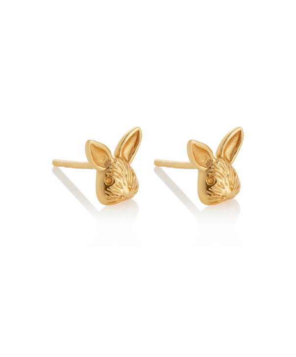 OLIVIA BURTON LONDON 3D Bunny Studs GoldOBJAME109 – 3D Bunny Studs Gold - Side view