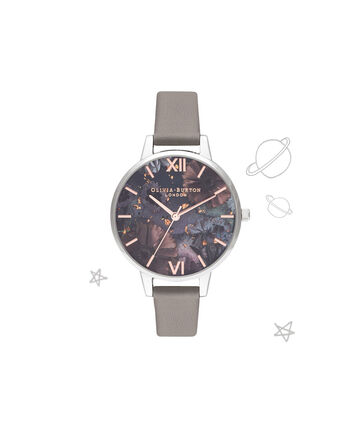 OLIVIA BURTON LONDON Celestial Demi Dial WatchOB16GD26 – Demi Dial in grey and Silver & Rose Gold - Front view