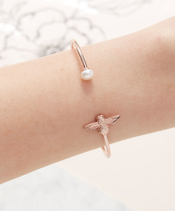 OLIVIA BURTON LONDON  Pearl Bee Bangle Rose Gold  OBJ16AMB37 – Pearl Bee Bangle - Other view