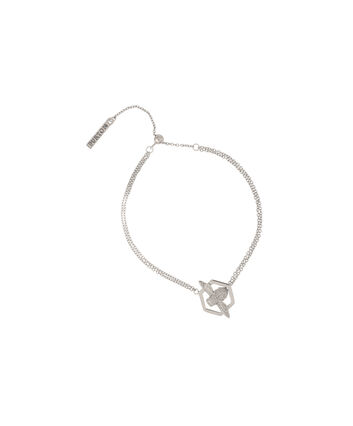 OLIVIA BURTON LONDON  Honeycomb Bee Chain Bracelet Silver  OBJ16AMB33 – Honeycomb Bee Chain Bracelet - Front view