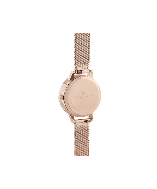 OLIVIA BURTON LONDON Meant to Bee Blush, Silver & Rose Gold MeshOB16AM166 – Demi Dial In Rose Gold And Rose Gold - Back view