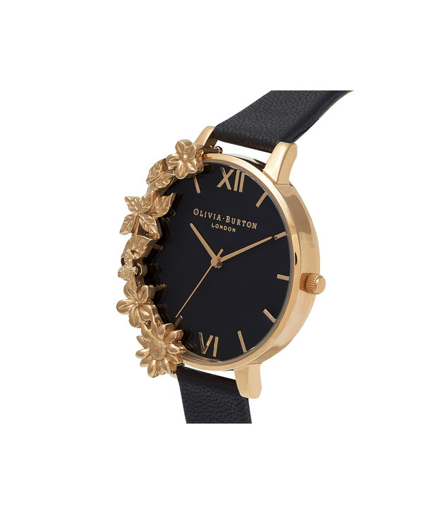 OLIVIA BURTON LONDON Case Cuff Black Dial and GoldOB16CB07 – Removable Case Cuff - Side view