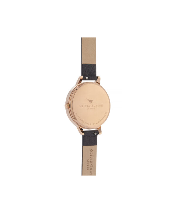 OLIVIA BURTON LONDON Glasshouse Demi Dial WatchOB16GH11 – Demi Dial in black and Rose Gold - Back view