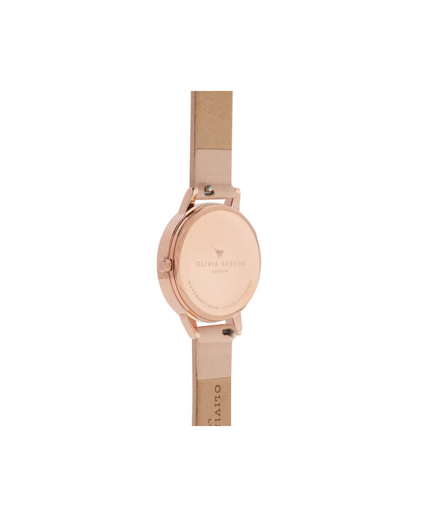 OLIVIA BURTON LONDON  Marble Floral Rose Gold Watch  OB16MF03 – Midi Dial Round in Nude Peach and Rose Gold - Back view