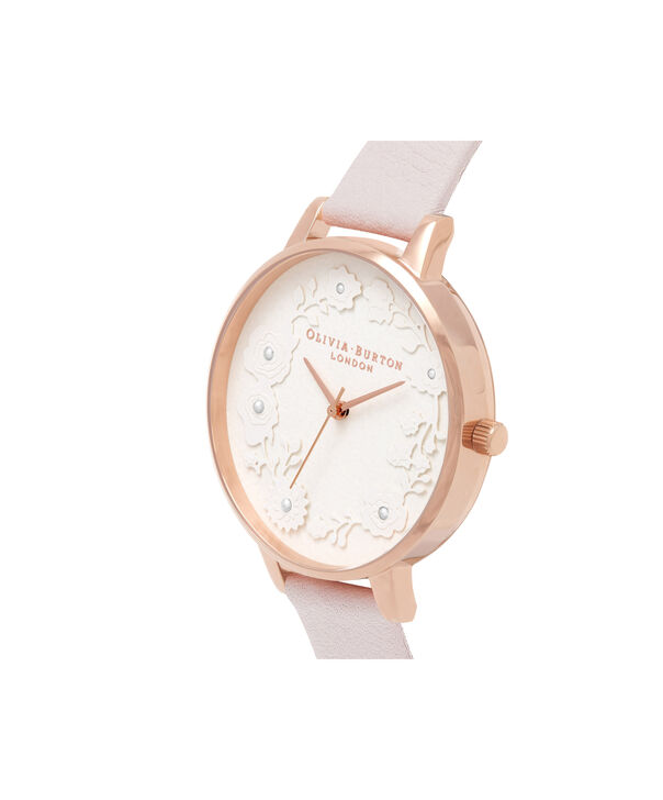 OLIVIA BURTON LONDON  Artisan Dial Blossom & Rose Gold OB16AR01 – Big Dial Round in Rose Gold and Pink - Side view