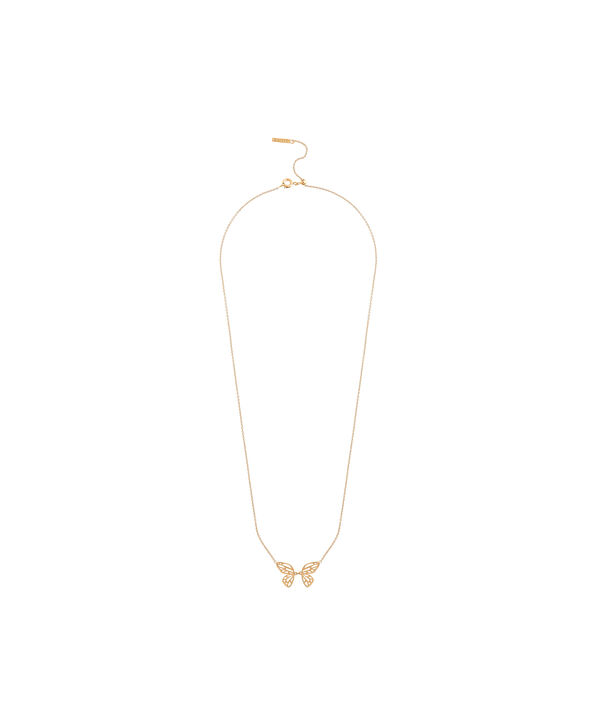 OLIVIA BURTON LONDON Butterfly Wing Necklace GoldOBJ16EBN04 – Butterfly Wing Necklace - Side view