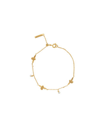 OLIVIA BURTON LONDON  Pearl Bee Chain Bracelet Gold OBJ16AMB40 – Pearl Bee Chain Bracelet - Front view