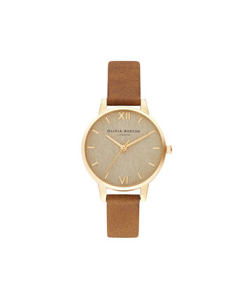 OLIVIA BURTON LONDON Woven Dial  Honey Tan & Pale GoldOB16WV02 – Woven Dial  Honey Tan & Pale Gold - Front view