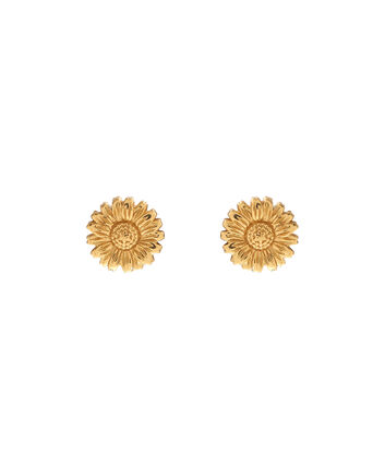 OLIVIA BURTON LONDON 3D Daisy Stud Gold OBJ16DAE13 – 3D Daisy Stud Earrings - Front view