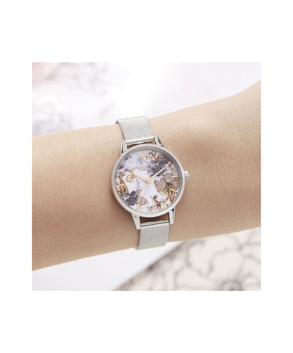OLIVIA BURTON LONDON Marble Florals Midi Dial WatchOB16CS16 – Midi Dial in silver and Silver & Rose Gold - Other view