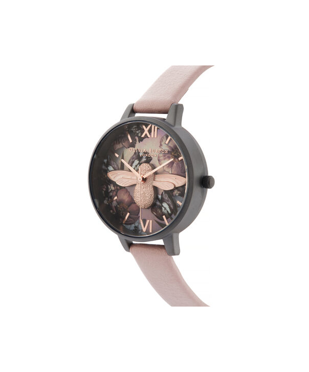 OLIVIA BURTON LONDON Twilight Demi Dial Watch with Lilac Mother-Of-PearlOB16TW02 – Demi Dial in pink and Gunmetal - Side view