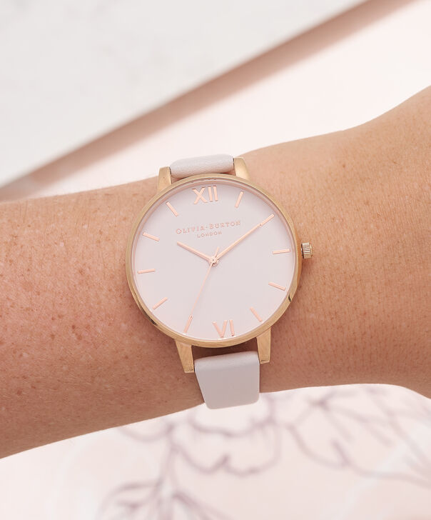 OLIVIA BURTON LONDON  Big Dial Blush Dial & Rose Gold Watch OB16BD95 – Big Dial Round in Blush - Other view