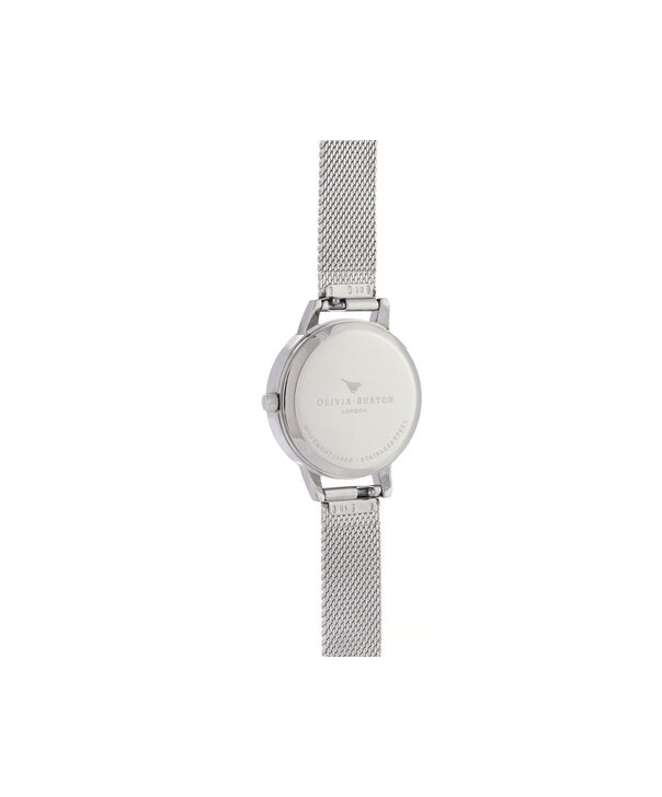 OLIVIA BURTON LONDON Marble Florals Midi Dial WatchOB16CS16 – Midi Dial in silver and Silver & Rose Gold - Back view