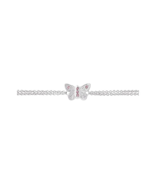 OLIVIA BURTON LONDON Bejewelled Butterfly Chain Bracelet Silver & Pink StoneOBJ16MBB05 – Chain Bracelet in  and Silver - Side view