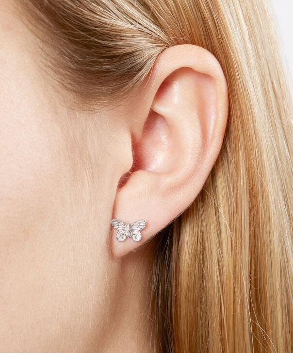 OLIVIA BURTON LONDON 3D Butterfly Stud Earrings SilverOBJ16MBE03 – 3D Butterfly Stud Earrings - Other view