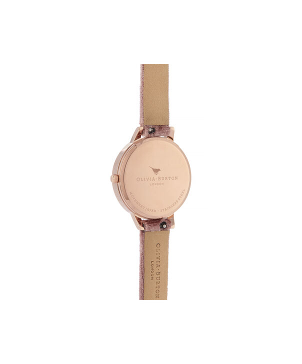 OLIVIA BURTON LONDON Sunray Demi Dial Watch with Rose VelvetOB16DE03 – Demi Dial in pink and Rose Gold - Back view