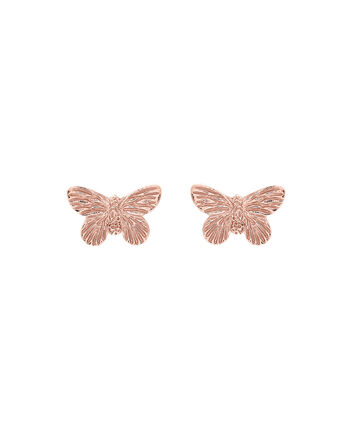 OLIVIA BURTON LONDON  3D Butterfly Stud Earrings Rose Gold OBJ16MBE02 – 3D Butterfly Stud Earrings - Front view