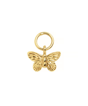 OLIVIA BURTON LONDON  Butterfly Huggie Charm Gold OBJ16MBE04 – Charms - Front view