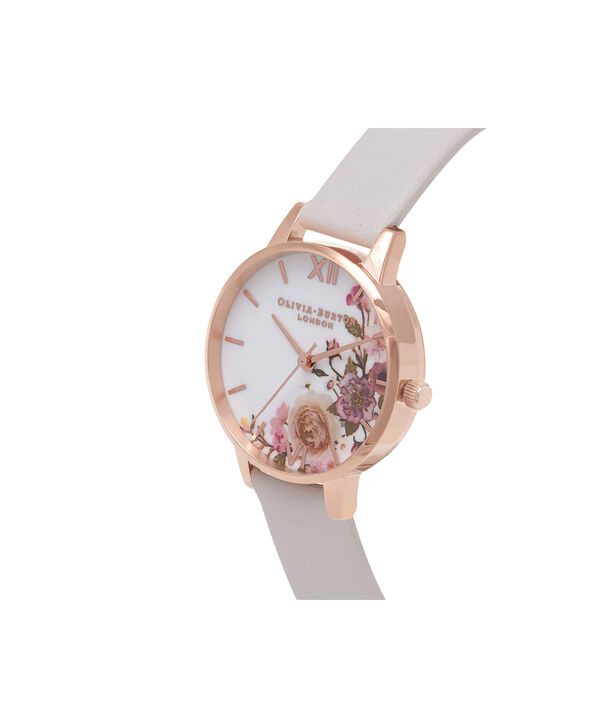 OLIVIA BURTON LONDON  Enchanted Garden Blush & Rose Gold Watch OB16WG37 – Midi Dial Round in Rose Gold and Blush - Side view