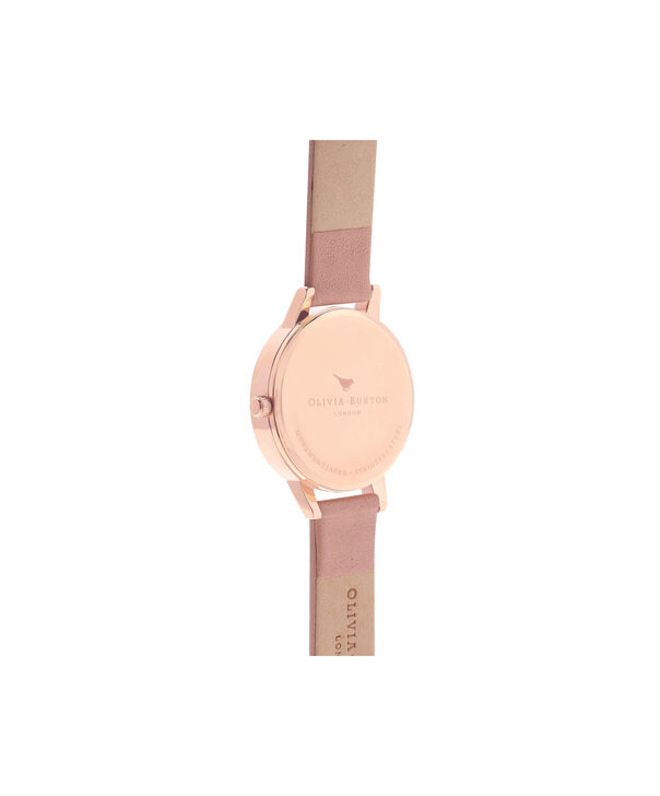 OLIVIA BURTON LONDON  Wonderland Dusty Pink And Rose Gold Watch OB15WD28 – Midi Dial Round in Silver and Pink - Back view