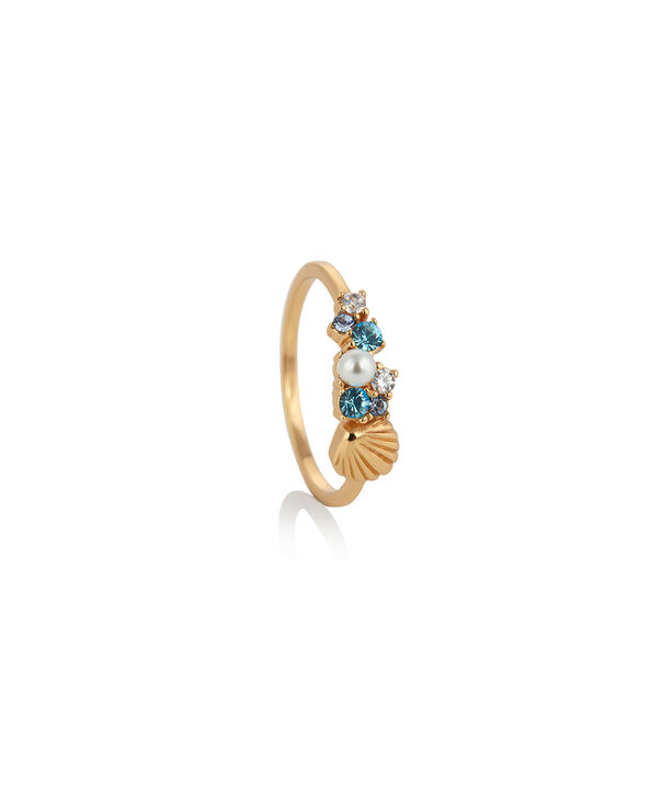 OLIVIA BURTON LONDON Under The Sea Shell Bubble Ring Gold MOBJSCR01B – SHOPBAG_LABEL - Side view