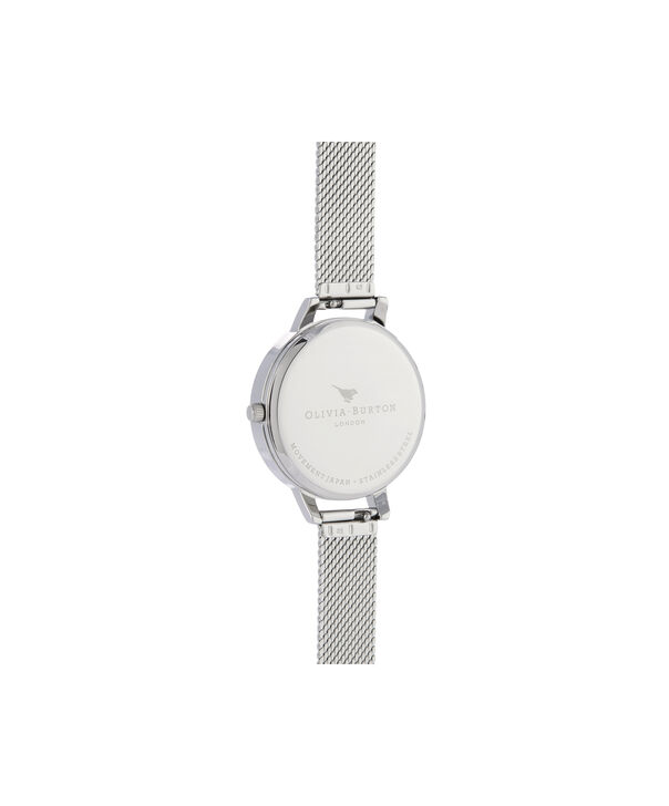 OLIVIA BURTON LONDON Sunray Demi Dial Watch with Boucle MeshOB16DE01 – Demi Dial in silver and Silver & Rose Gold - Back view
