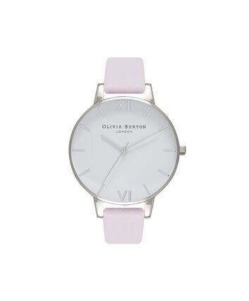 OLIVIA BURTON LONDON White DialOB16BDW34 – Big Dial Round in White and Silver - Front view