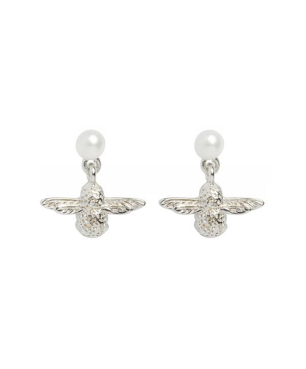 OLIVIA BURTON LONDON Pearl Bee EarringsOBJ16AME43 – Pearl Bee Stud Earrings - Front view