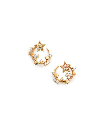 OLIVIA BURTON LONDON Celestial Swirl Hoops GoldOBJ16CLE08 – Celestial Swirl Hoops Gold - Front view