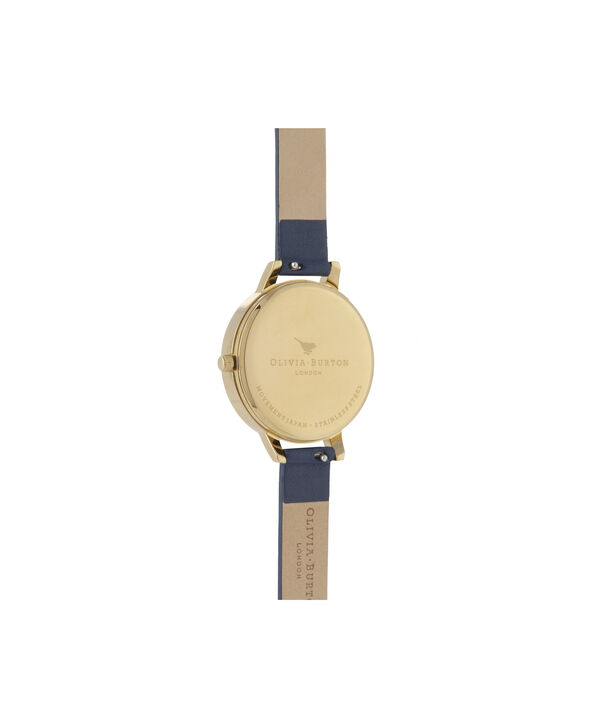 OLIVIA BURTON LONDON Enchanted Garden Demi Dial WatchOB16EG113 – Demi Dial in blue and Gold - Back view