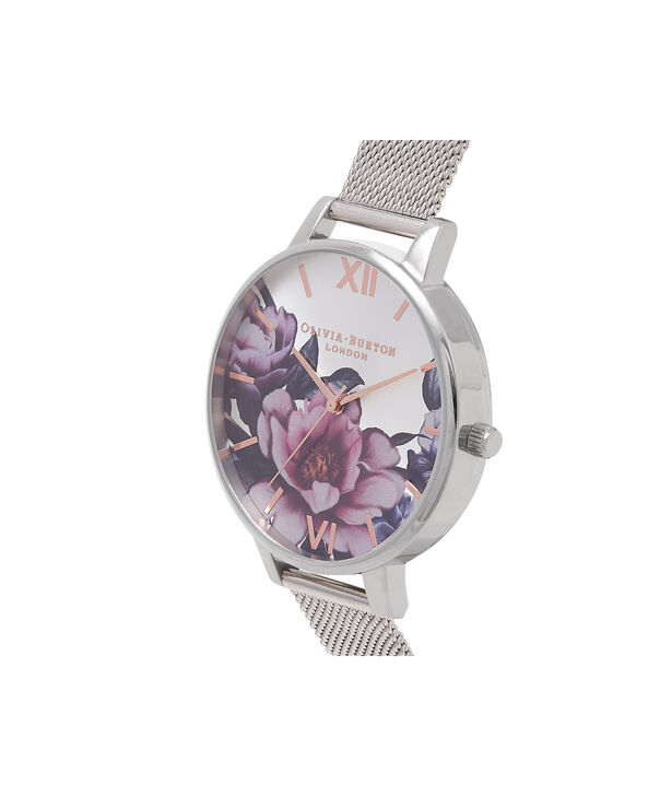 OLIVIA BURTON LONDON Peony Parlour Sunray Big Dial WatchOB16PL60 – Big Dial in silver and Silver & Rose Gold - Side view