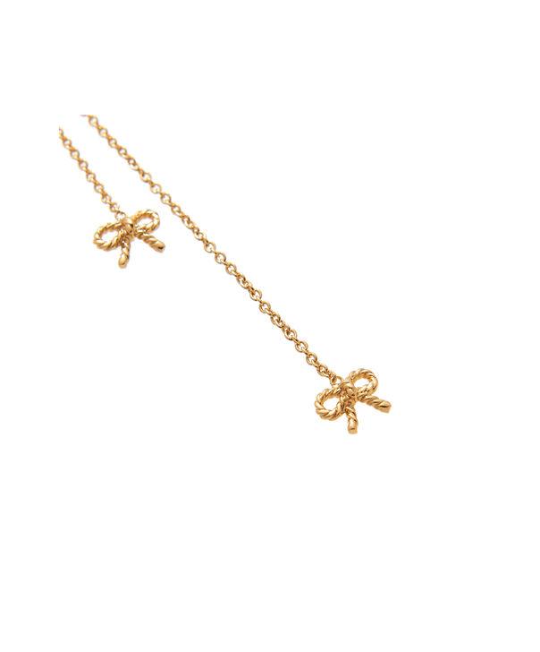 OLIVIA BURTON LONDON  Vintage Bow Lariat Necklace Gold OBJ16VBN30 – Vintage Bow Lariat Necklace - Side view