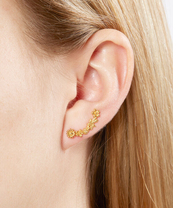 OLIVIA BURTON LONDON  Bee Blooms Crawler Earrings Gold  OBJ16BBE02 – Bee Blooms Crawler Earrings - Other view