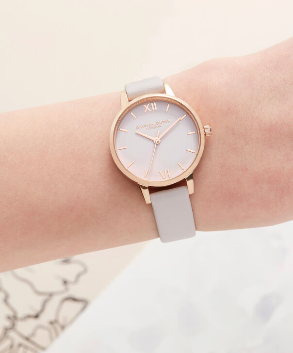 OLIVIA BURTON LONDON  Midi Dial Blush & Rose Gold Watch OB16MD82 – Midi Dial Round inRed Gold and Blush - Other view