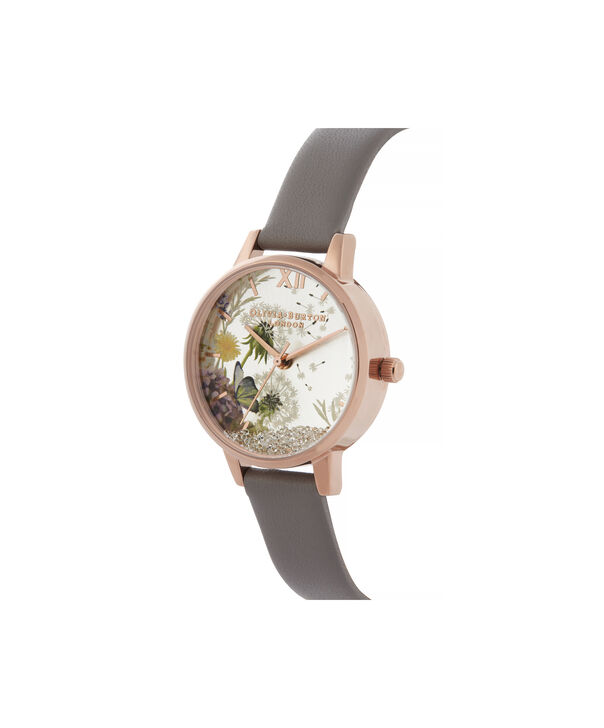 OLIVIA BURTON LONDON Wishing Watch Midi London Grey & Rose GoldOB16SG02 – Midi Dial in grey and Rose Gold - Side view