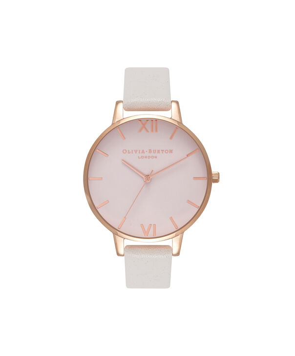 OLIVIA BURTON LONDON  Big Dial Blush Dial & Rose Gold Watch OB16BD95 – Big Dial Round in Blush - Front view