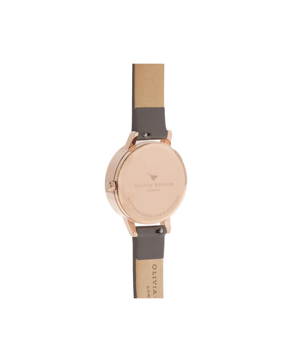 OLIVIA BURTON LONDON  3D Bee London Grey & Rose Gold OB16AM148 – Midi Dial Round in Grey and Rose Gold - Back view