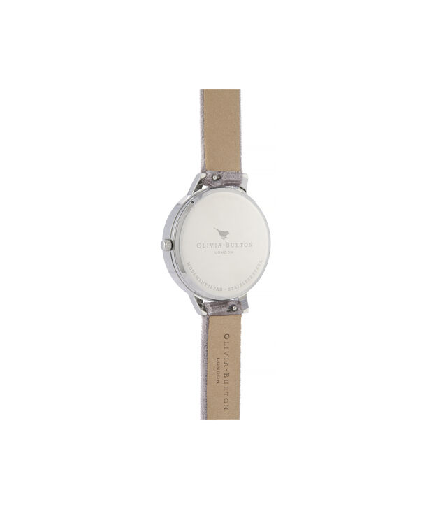OLIVIA BURTON LONDON Sunray Demi Dial Watch with Lilac VelvetOB16DE04 – Demi Dial in parma violet and Silver - Back view