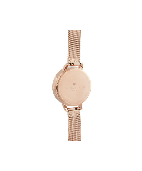 OLIVIA BURTON LONDON Demi Blush Dial & Rose Gold MeshOB16AM161 – Demi Dial in Rose Gold and Rose Gold - Back view