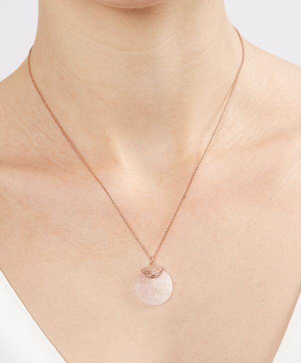 OLIVIA BURTON LONDON Semi Precious Rose Gold & Rose QuartzOBJ16AMN23 – Semi Precious Necklace - Other view