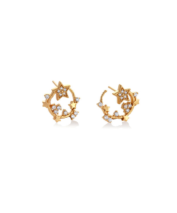 OLIVIA BURTON LONDON Celestial Swirl Hoops GoldOBJ16CLE08 – Celestial Swirl Hoops Gold - Side view