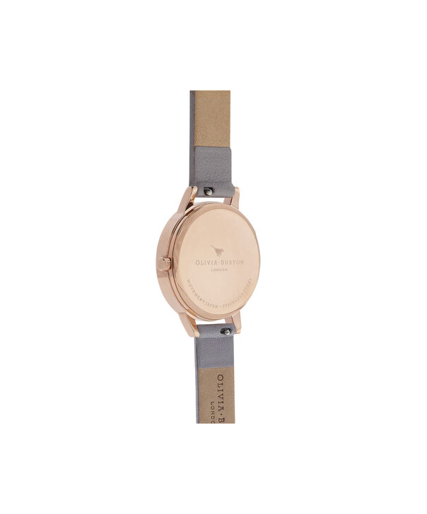 OLIVIA BURTON LONDON Marble Floral Grey Lilac & Rose Gold WatchOB16CS14 – Midi Dial Round in Floral Sand and Rose Gold - Back view