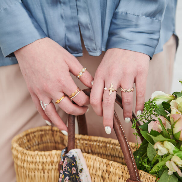 OLIVIA BURTON LONDON  Forget Me Knot Ring GoldOBJ16KDR01 – Forget Me Knot Ring - Other view