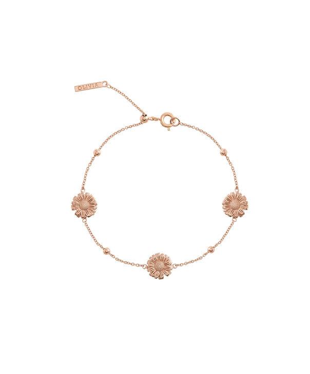 OLIVIA BURTON LONDON  Daisy Chain Bracelet Rose Gold OBJ16DAB07 – 3D Daisy Chain Bracelet - Front view