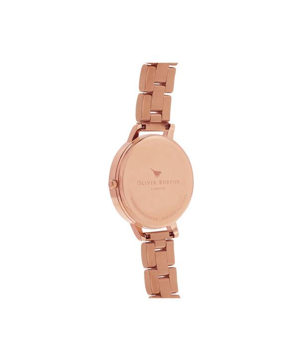 OLIVIA BURTON LONDON  Big Dial Bracelet Rose Gold Watch OB13BL07BS – Big Dial Round in Rose Gold - Back view