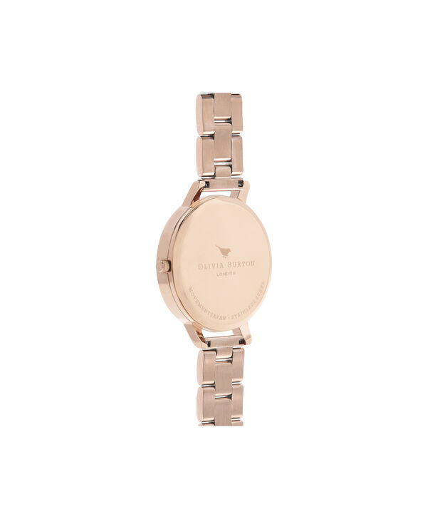 OLIVIA BURTON LONDON  Dark Bouquet Rose Gold Bracelet Watch OB16WG45 – Big Dial Round in Dark Floral and Rose Gold - Back view