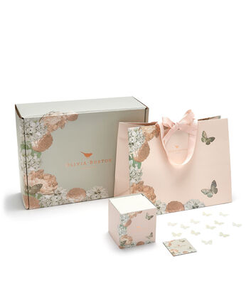 OLIVIA BURTON LONDON Signature Nude Peach Gift Wrap set840048009 – Gift Wrap in Nude Peach - Front view
