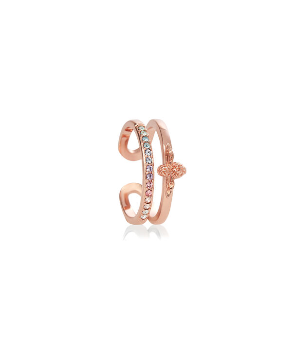 OLIVIA BURTON LONDON Rainbow Bee Ring Rose GoldOBJAMR26 – Ring in Rose Gold - Side view